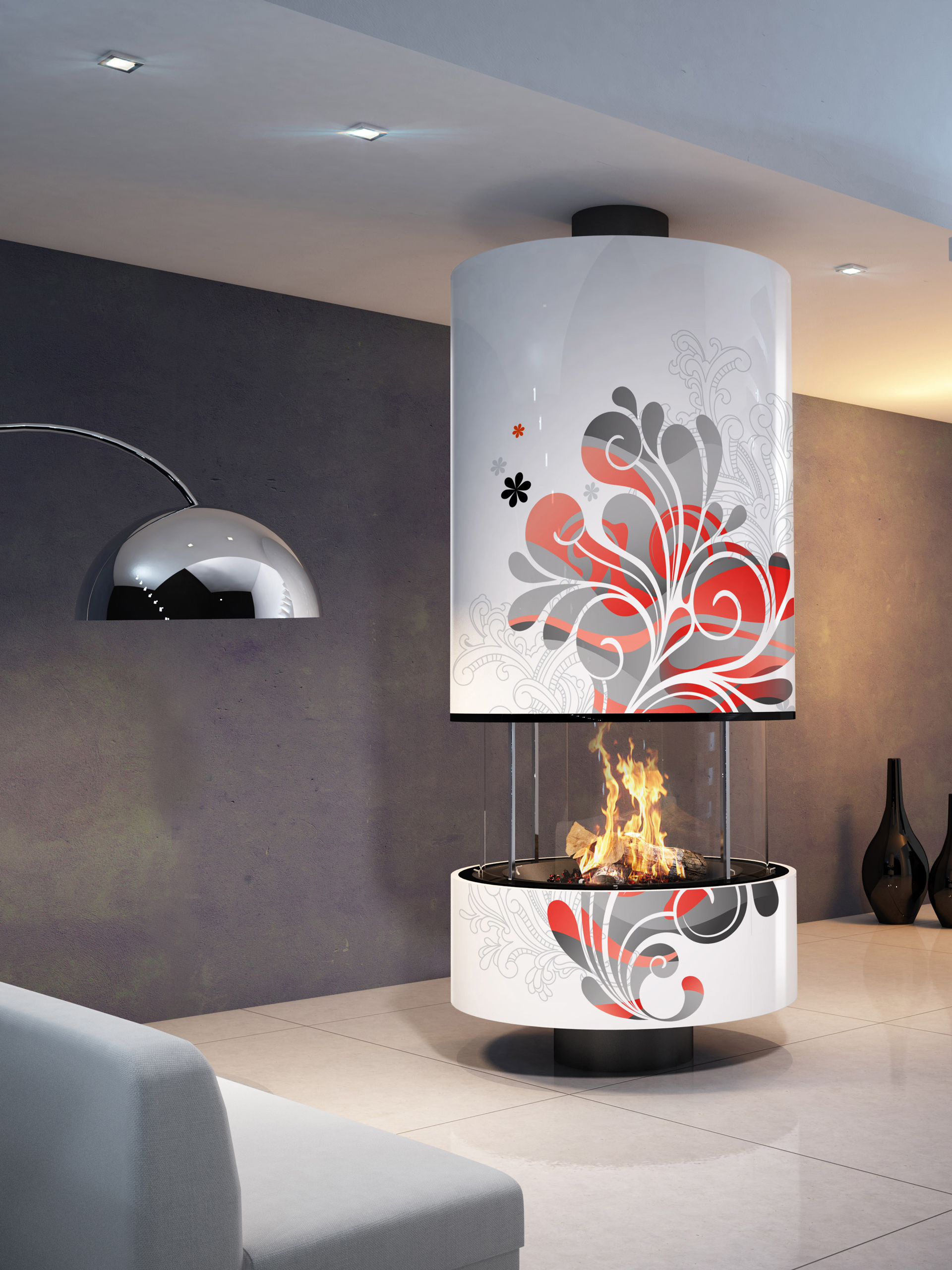 cheminee moderne decorative